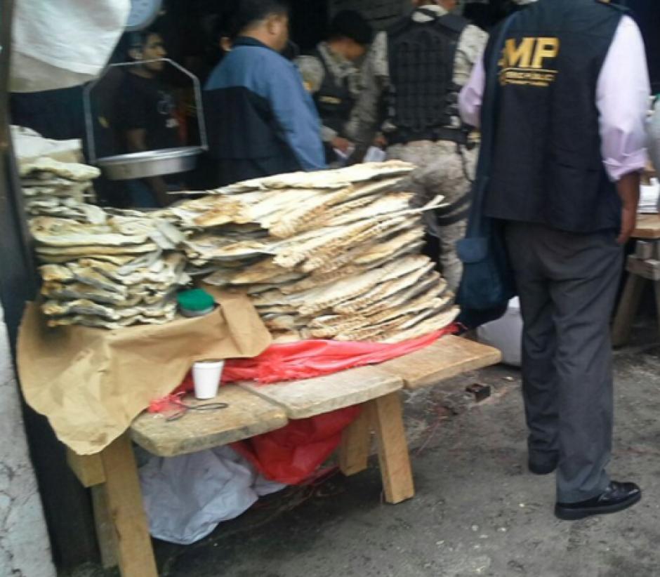 El reporte del MP detalla que fueron incautadas mil 34 libras de carne de Pez Vela. (Foto: MP)