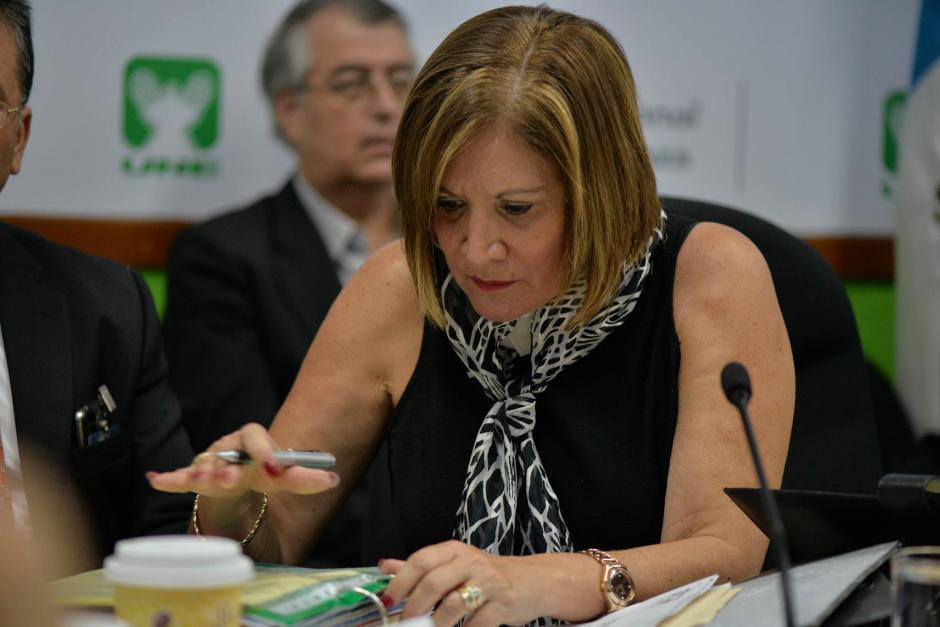 Eugenia Villagrán titular de la PGN durante la citación. (Foto: Wilder López/Soy502)