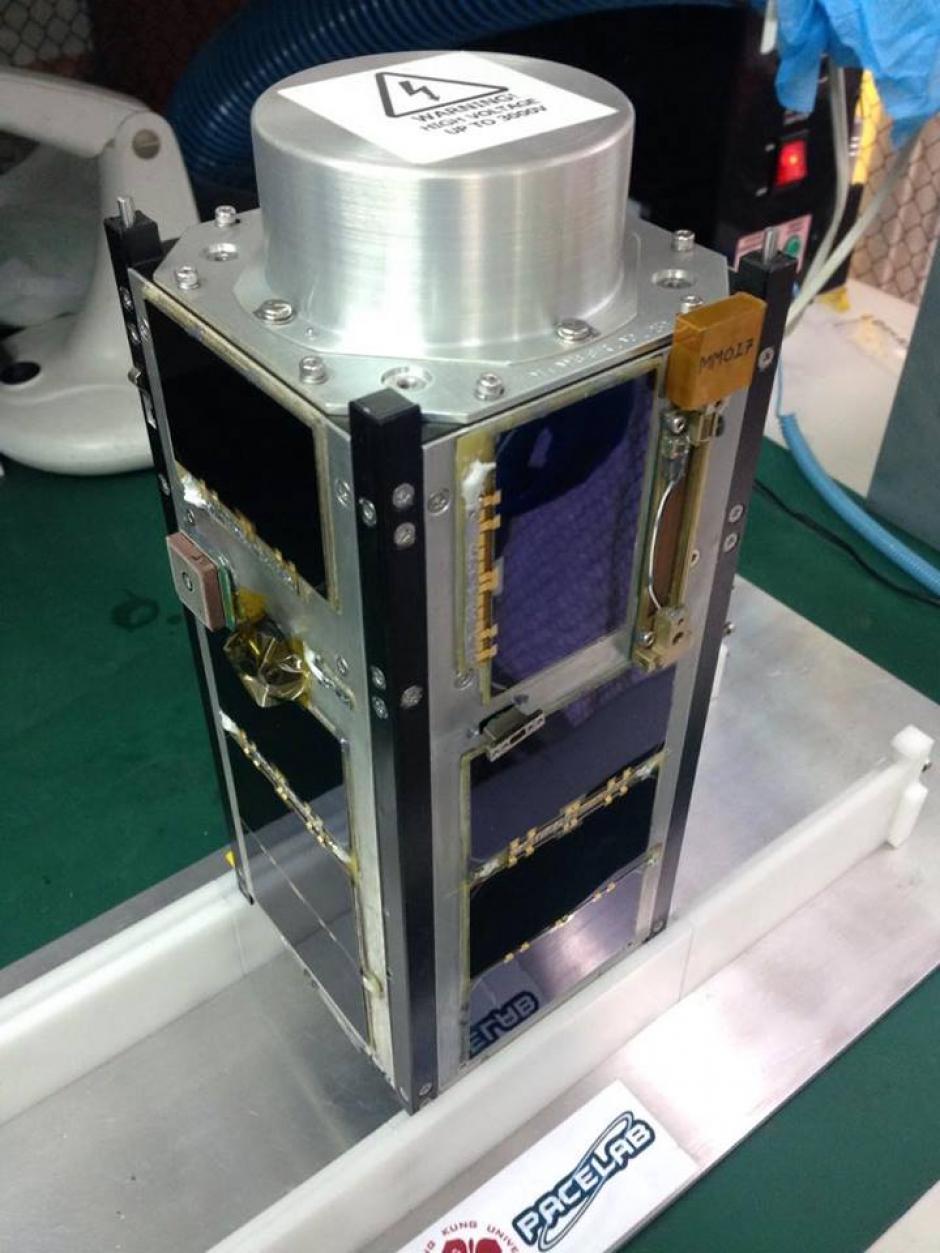 Phoenix fue el último nanosatélite diseñado por el laboratorio donde trabaja Ángel. (Foto: Cortesía Ángel Menéndez)