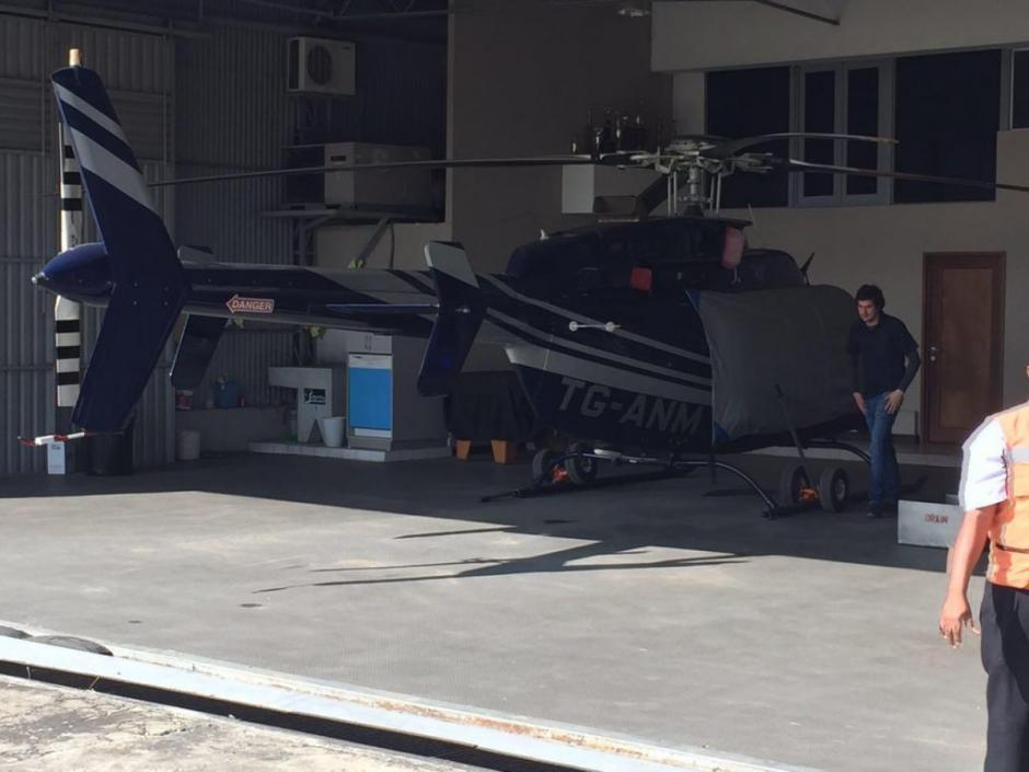 Este sería el helicóptero inmovilizado al exministro Sinibaldi. (Foto: Canal Antigua)