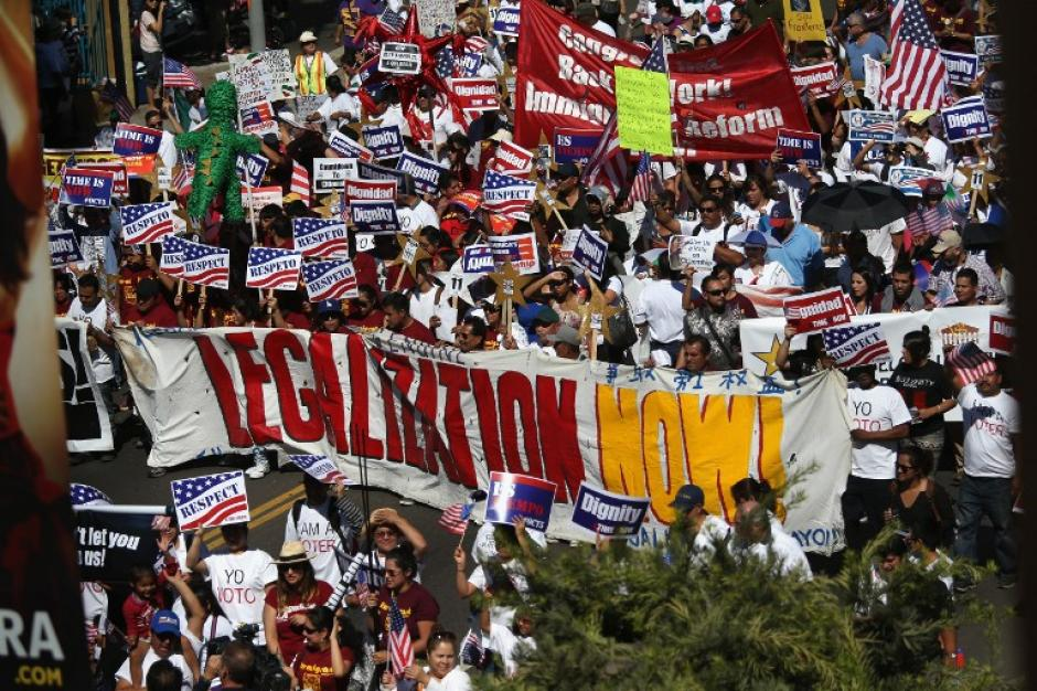 Miles de inmigrantes recorrieron las calles en diferentes ciudades de Estados Unidos para exigir a los congresistas la aprobación de la Reforma Migratoria.