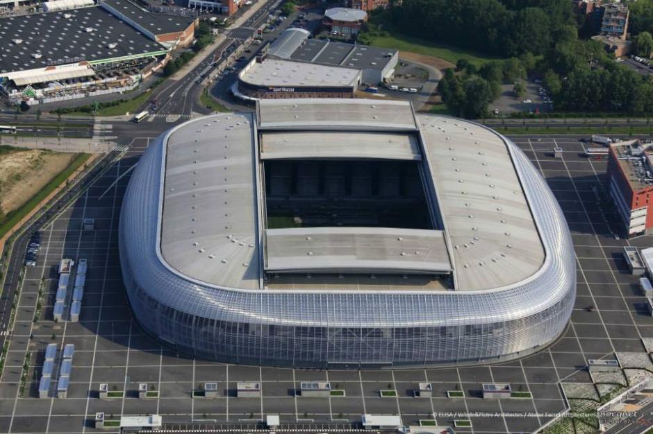 Vista aérea del estadio Pierre Mauroy. (Foto: Facebook/Stade Pierre Mauroy)
