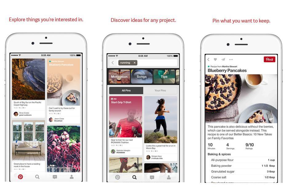 Pinterest se renueva a la versión 4.0 y muestra nuevo