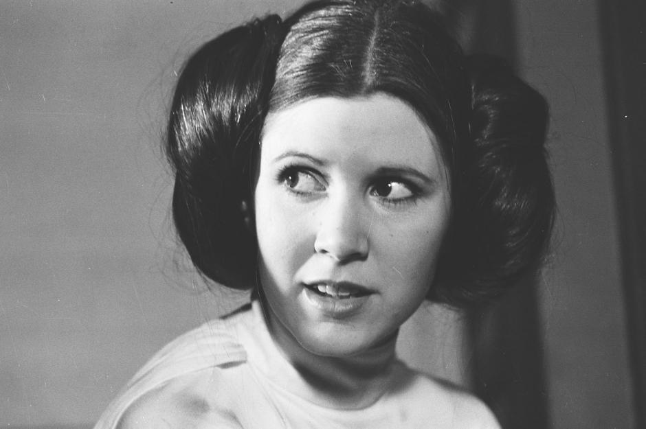 """""""La princesa Leia"""" reveló lo que vivió durante el rodaje de la Guerra de las Galaxias en 1976. (Foto: Pinterest)"""