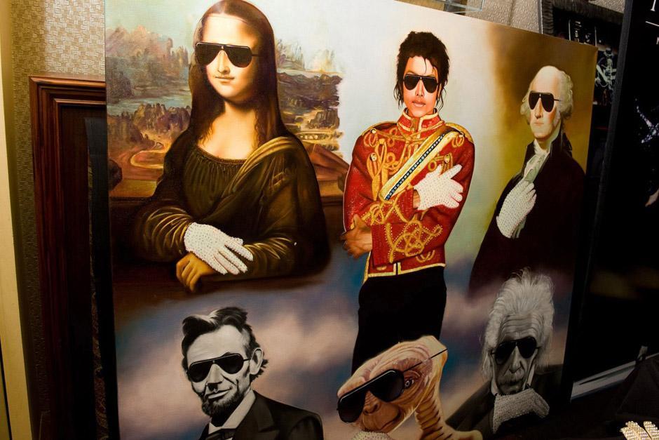 Bedard pintó para Jackson esta pintura, donde diversos personajes históricos utilizan el guante blanco. (Foto: Archivo)