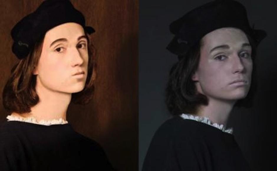 El trabajo de Avinci, Rembrandt y Thomas Gainsborough cobró vida. (Imagen: captura de YouTube)