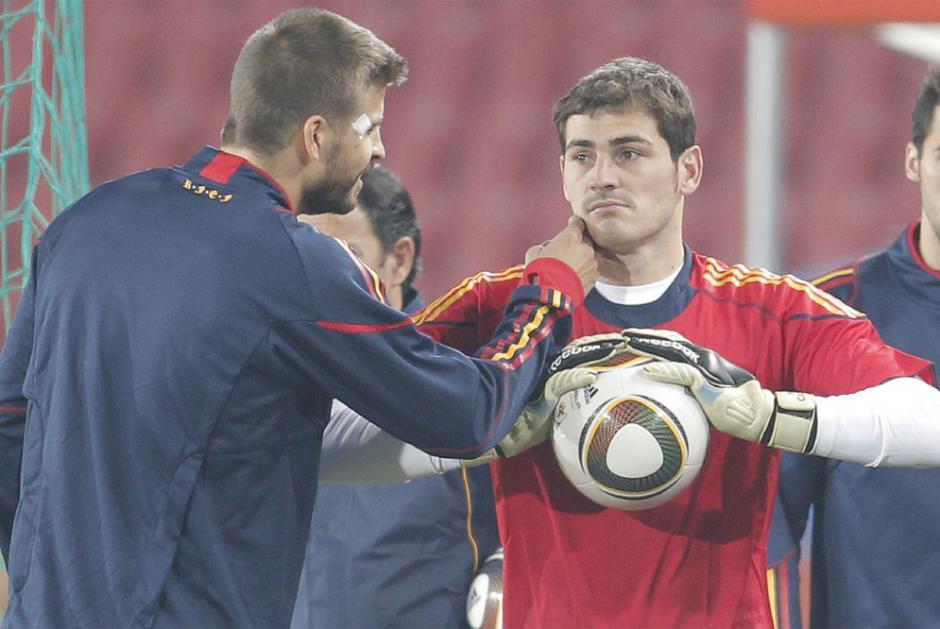 Casillas y Piqué tienen toda una vida de amistad y rivalidad futbolística