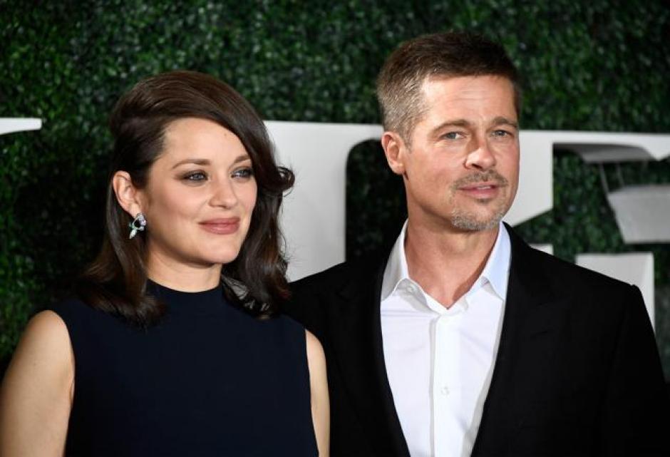 Marion Cotillard y Brad Pitt aparecieron juntos tras el escandaloso divorcio del actor.  (Foto: Hola)
