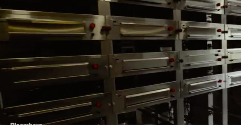 Esta es la máquina de pizzas portátiles. (Foto: Tomado de Bloomberg)