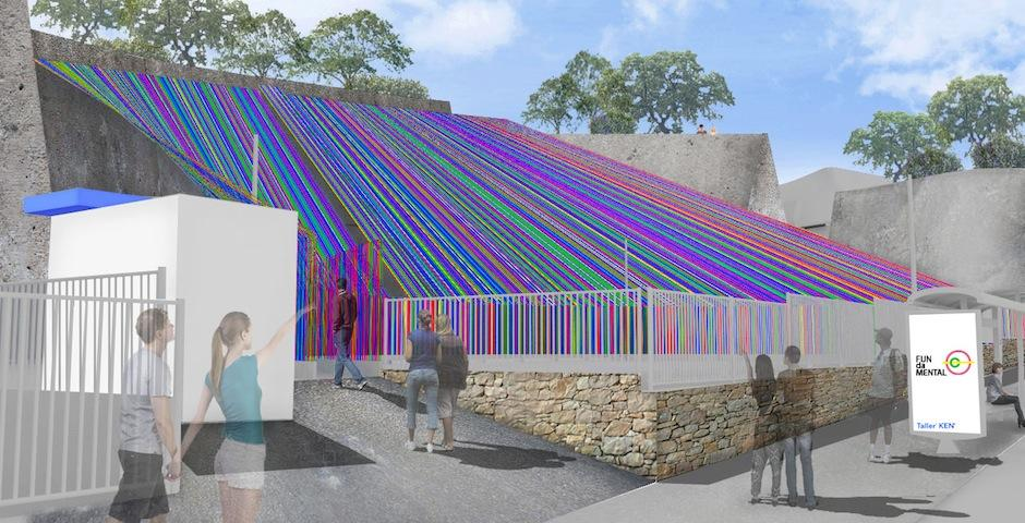 Esta área lúdica estará cubierta de textiles de diferentes colores. (Foto. Fundamental)