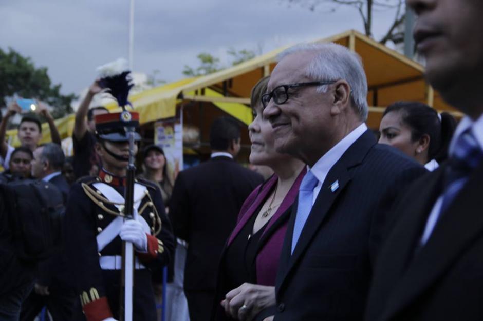 Por primera vez el presidente Alejandro Maldonado celebró la Independencia de Guatemala con ese cargo. (Foto: Fredy Hernández/Soy502)
