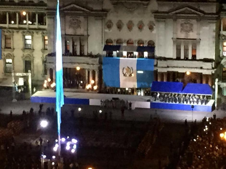 Una vista aérea de la Plaza Central de la Constitución el 14 de septiembre de 2015. (Foto: Soy502)