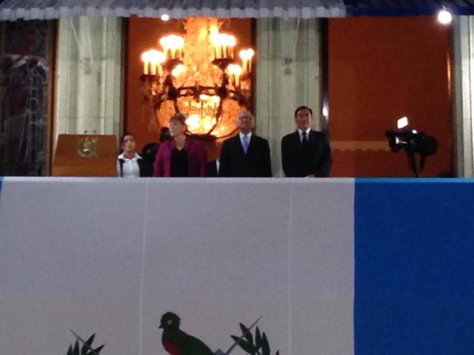 Alejandro Maldonado, presidente de Guatemala emitió su discurso en el Balcón Presidencial del Palacio Nacional de la Cultura. (Foto: Fredy Hernández/Soy502)