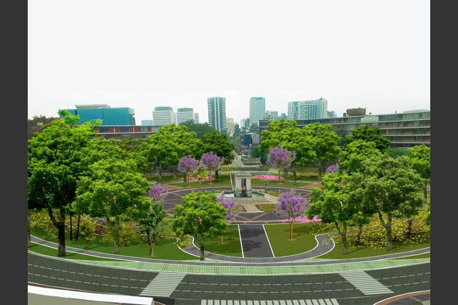 El proyecto busca ampliar áreas verdes en los alrededores de este espacio. (Foto: Municipalidad de Guatemala)