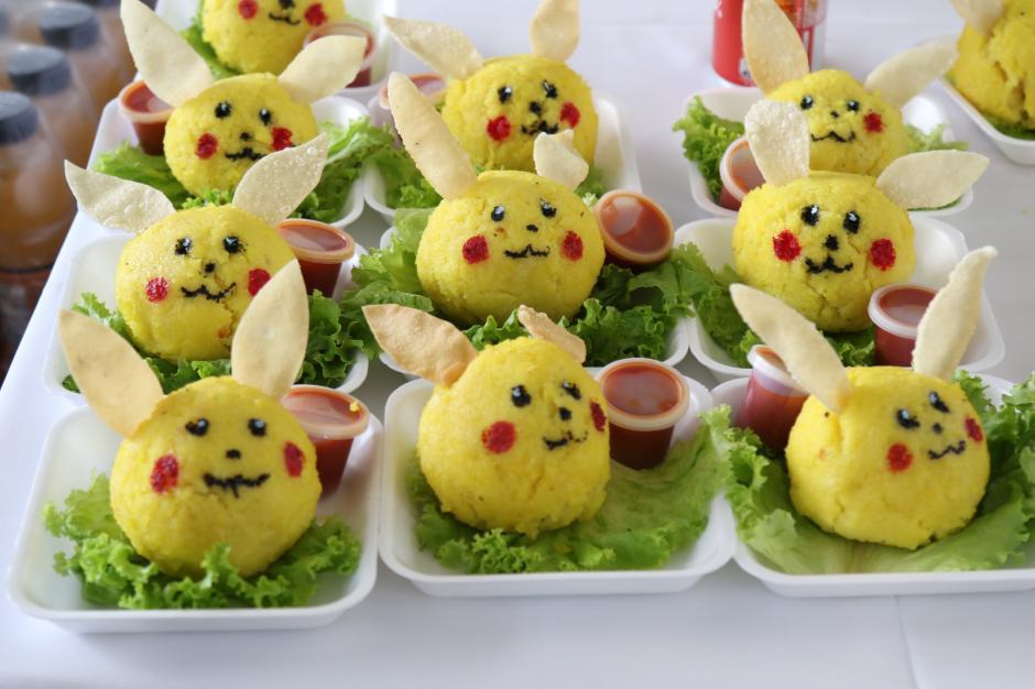 Varios alimentos alusivos a los Pokémons fueron vendidos en el evento. (Foto Alejandro Balán/Soy502)