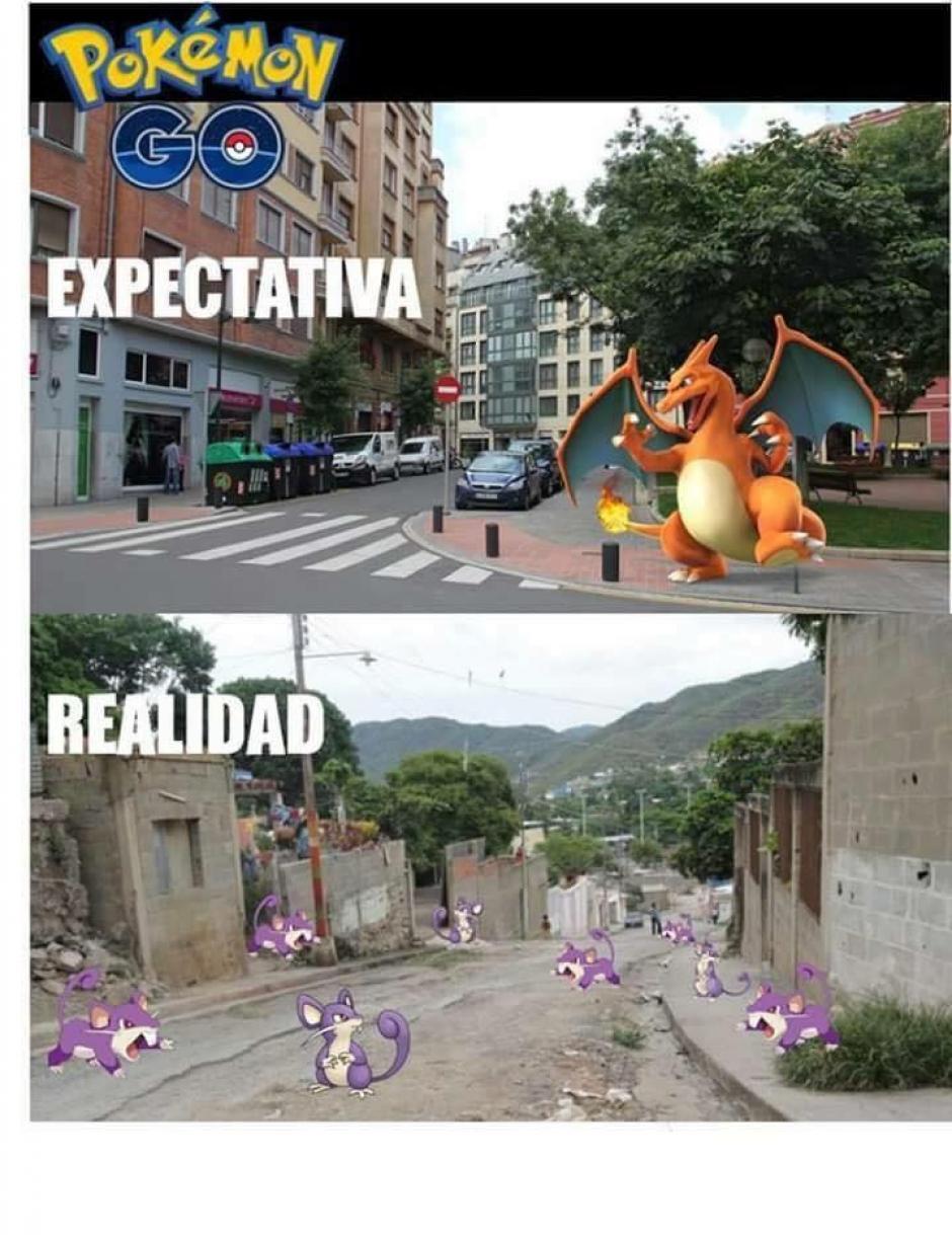 La realidad de Pokémon Go no estuvo a la altura de la expectativa. (Imagen: sopitas.com)