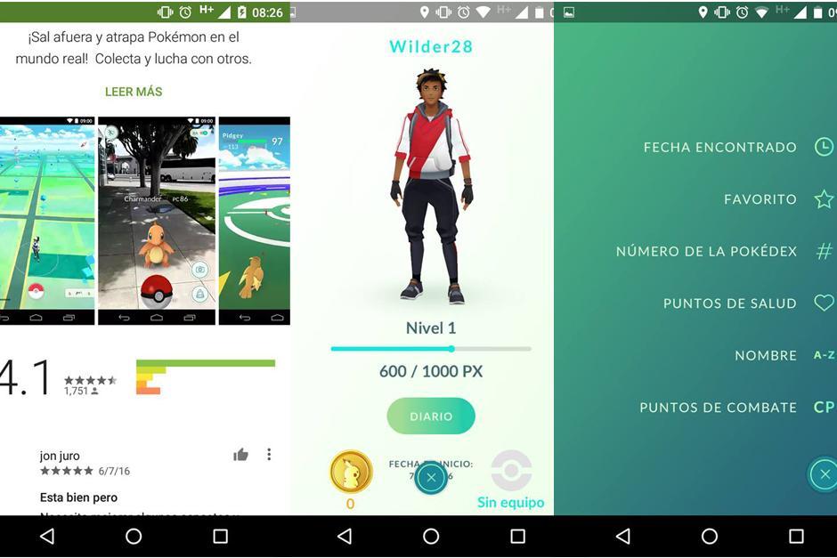 El videojuego Pokémon Go ya puede ser descargado gratis. (Captura de pantalla: Soy502)