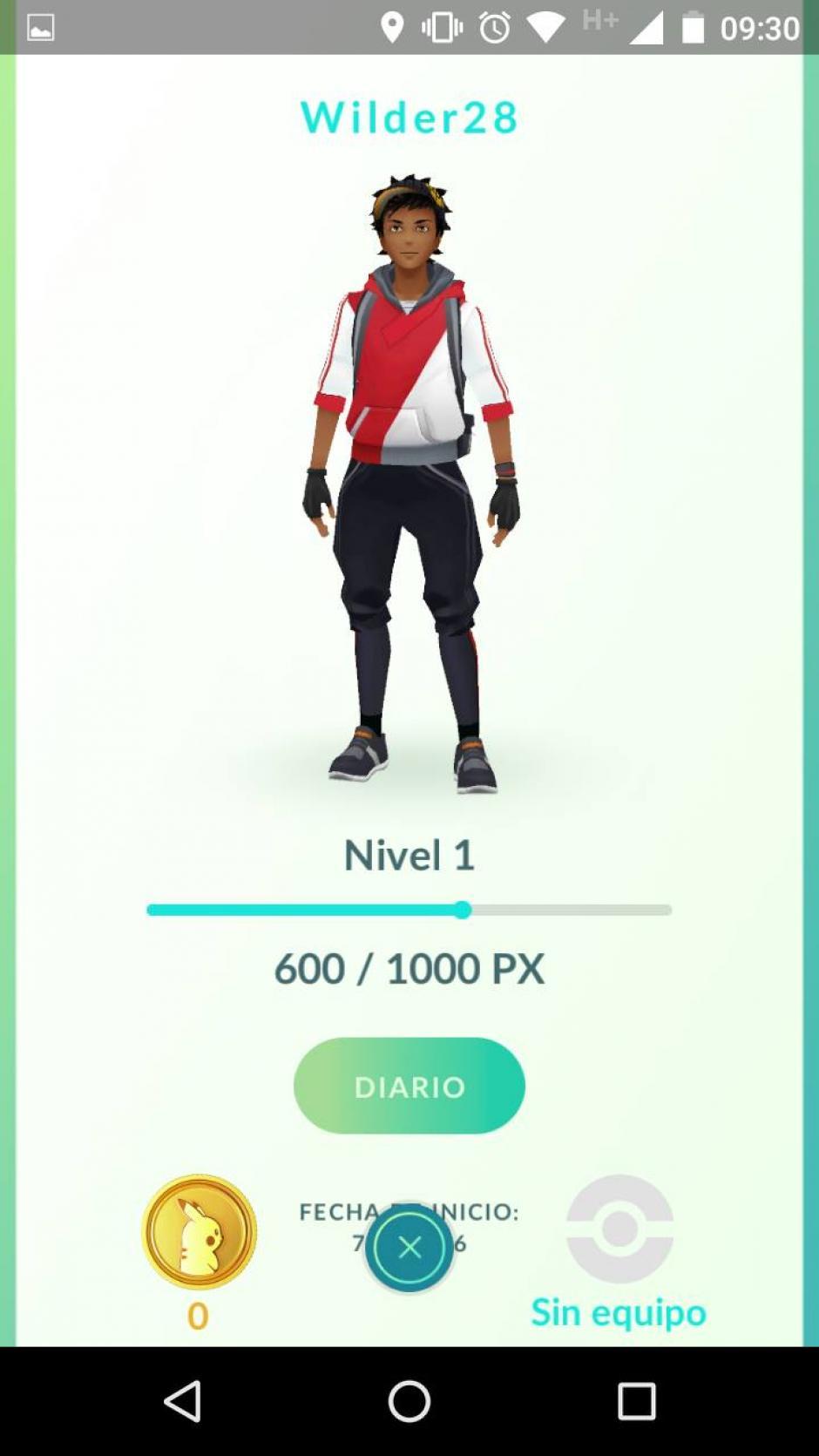 Debes crear un avatar para capturar Pokemones. (Captura de pantalla: Soy502)