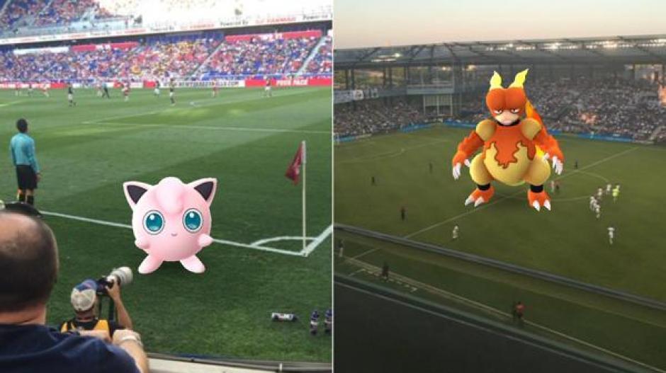 Los Pokémon llegaron a los estadios de Estados Unidos. (Captura de pantalla: Twitter)