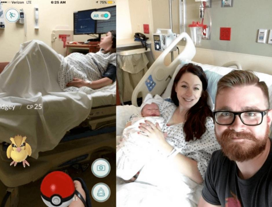 Este hombre atrapó a un Pokémon mientras su esposa estaba en labor de parto. (Foto: Twitter)