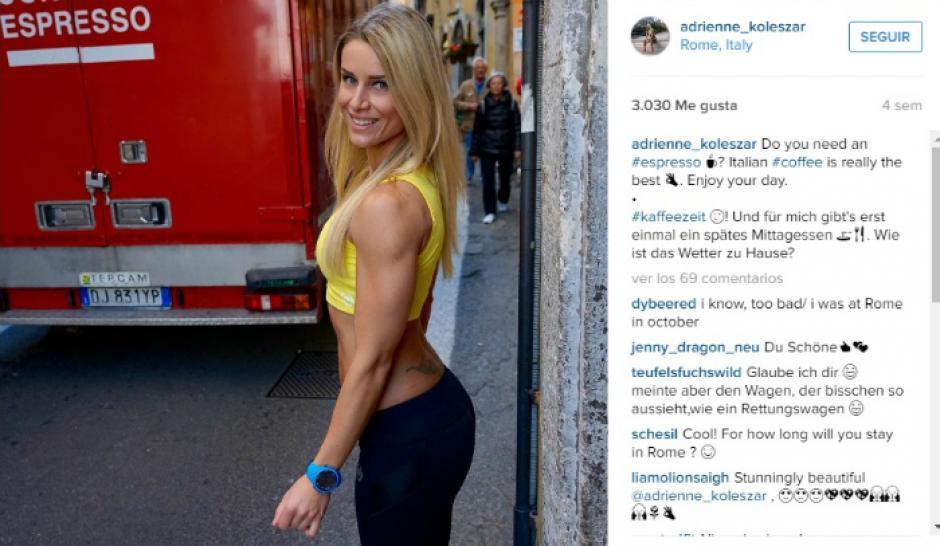 Los mensajes en Instagram le llueven a Adrienne. (Foto: Instagram/Adrienne Kolesza)