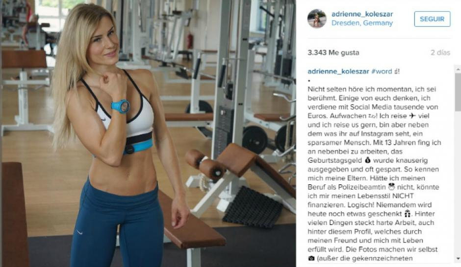 Así interactúa Adrienne Kolesza con sus seguidores en Instagram.(Foto: Instagram/Adrienne Kolesza)