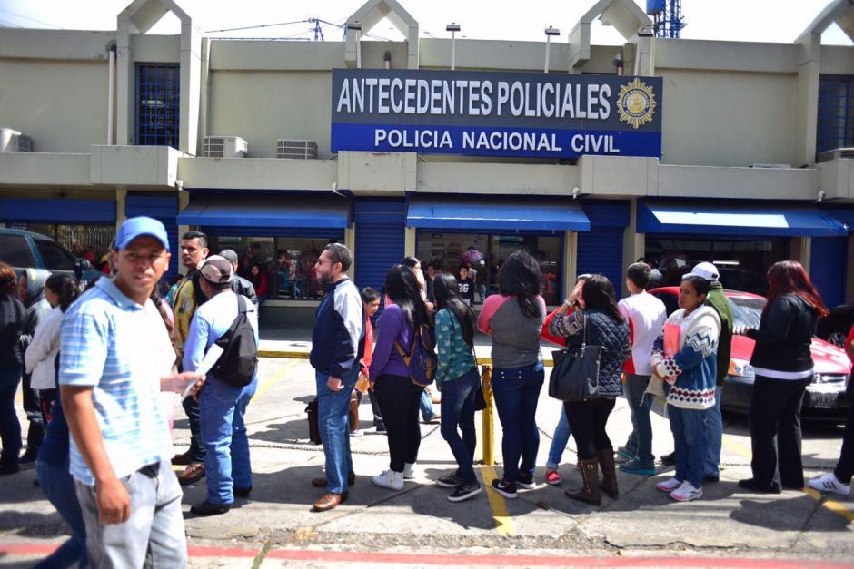 Las constancias  de antecedentes policiacos las emite la Policía Nacional Civil. (Foto: Jesús Alfonso/Soy502)