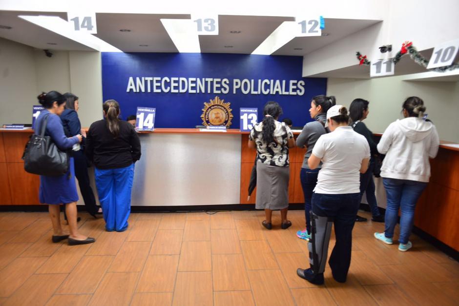 En este caso se obtiene carencia de antecedentes con la PNC. (Foto: Jesús Alfonso/Soy502)