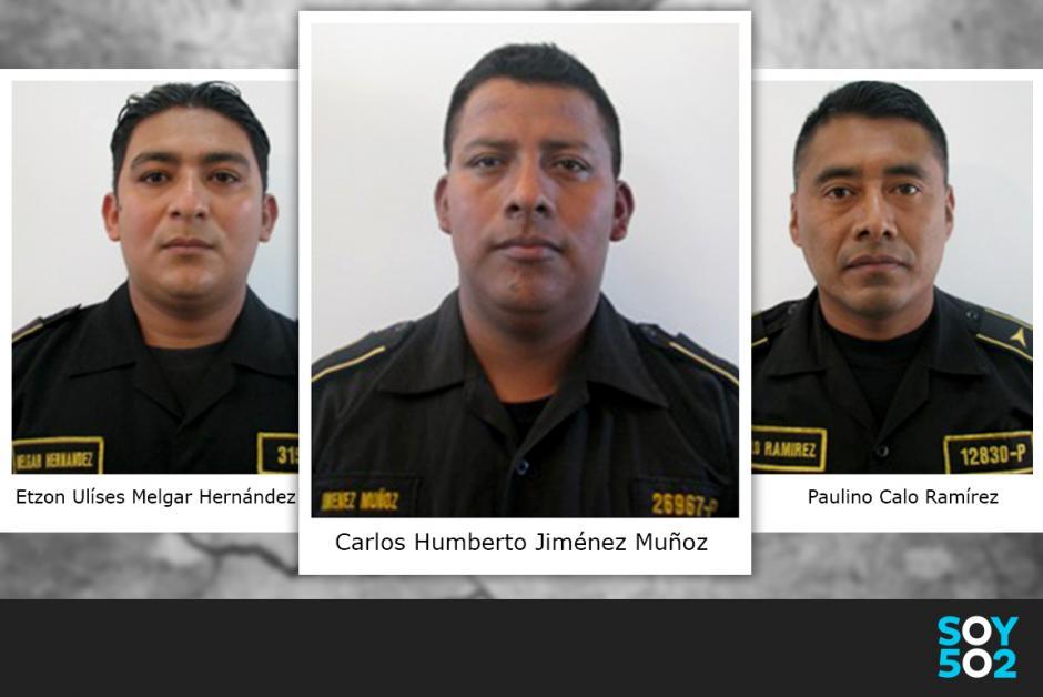 Los tres Policías habrían discutido por el cargamento de droga decomisado en la Portuaria Quetzal. Foto:PNC/Ilustración Javier Marroquín/Soy502