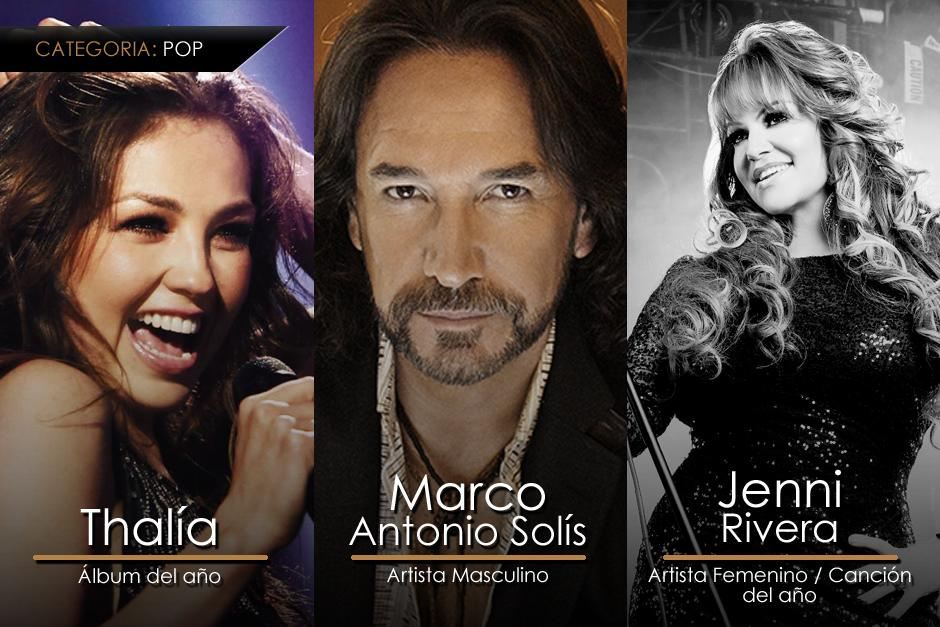 Estos son los ganadores más destacados de la categoría Pop en los Premios Lo Nuestro. (Imagen: Gerardo Calderón/Soy205)