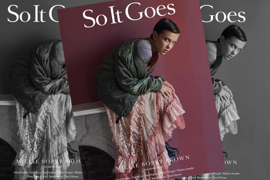 Millie Bobby Brown debuta con su primera portada de revista. (Foto: Instagram)