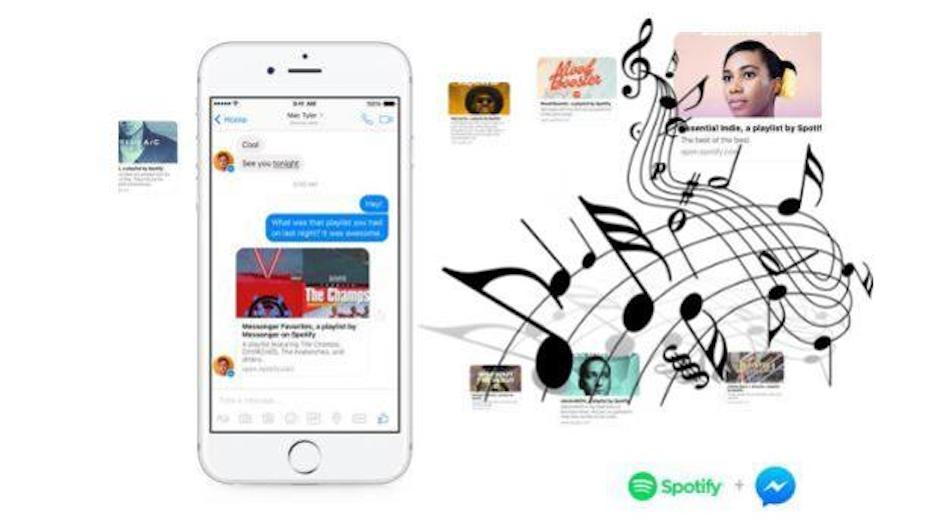 Ahora es posible compartir música con Facebook Messenger y Spotify. (Foto: posta.com.mx)