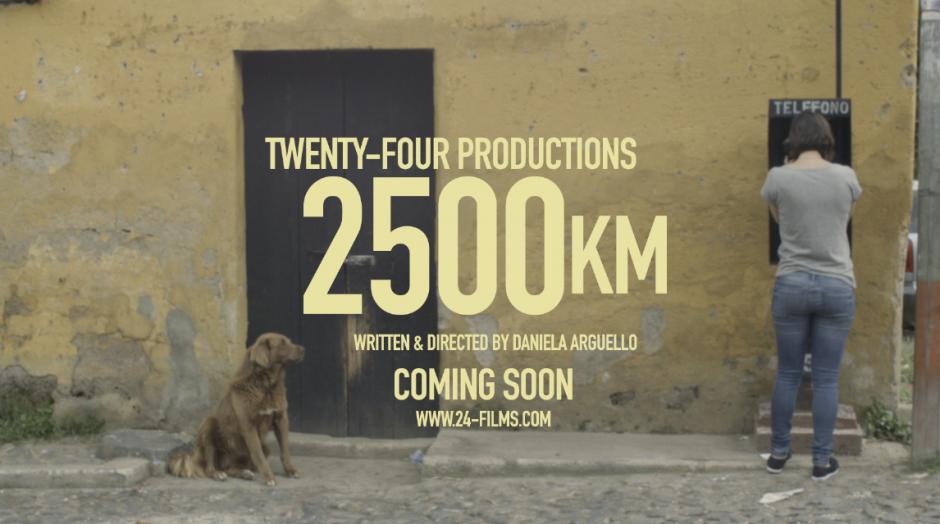 "El cortometraje se llama ""2500km"". (Foto: Daniela Arguello)"