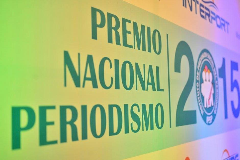 El Premio Nacional de Periodismo se entrega cada año por el IPSP. (Foto: Wilder López/Soy502)