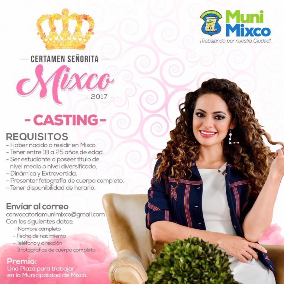 Este es el afiche del concurso de belleza. (Foto: Neto Bran/Facebook)