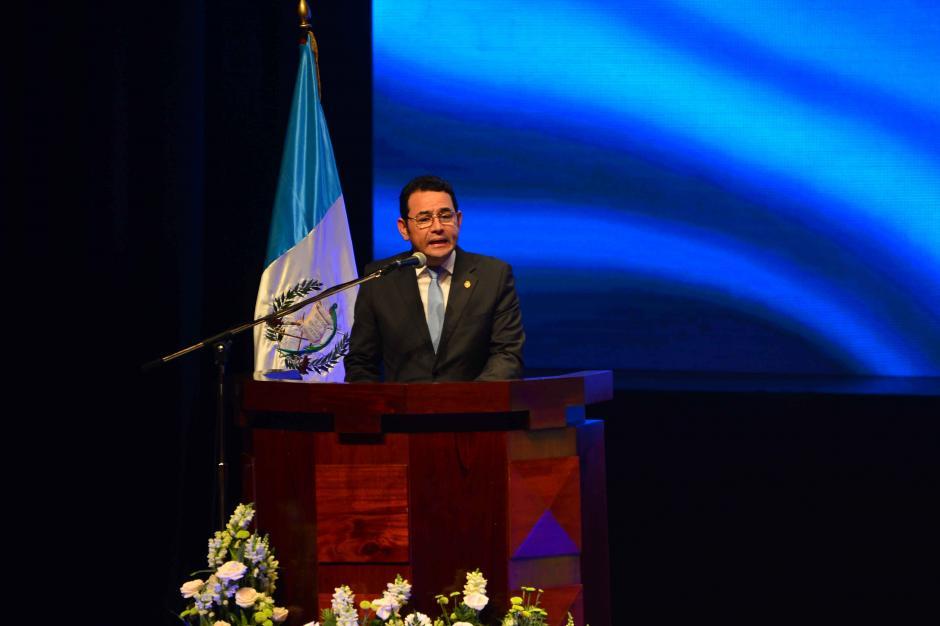 El presidente Jimmy Morales respalda la propuesta de reformas. (Foto: Jesús Alfonso/Soy502)