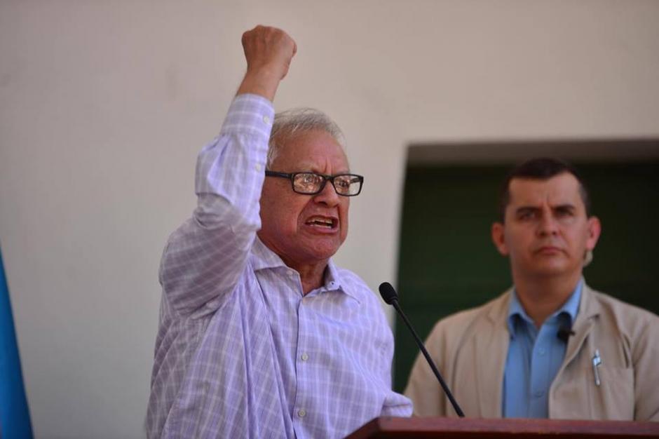 Si lo consideran digno que lo tomen, dijo Maldonado durante su discurso al referirse al salario diferenciado. (Foto: Jesús Alfonso/Soy502)