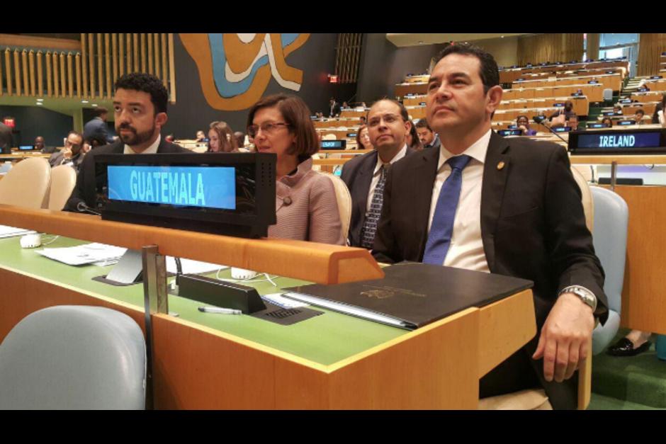 El mandatario asistió a la 71 Asamblea General de las Naciones Unidas en Nueva York. (Foto: Presidencia)