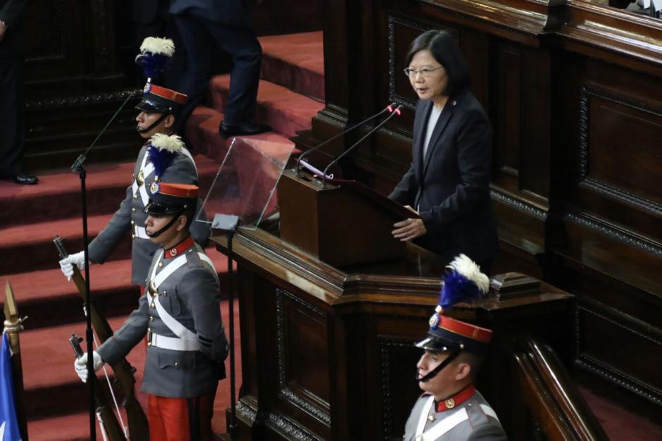 La Presidenta de Taiwán, Tsai Ing-Wen, visitó el Congreso este jueves. (Foto: Alejandro Balán/Soy502)