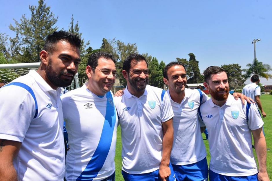 Algunos de los referentes de la Selección Nacional de Fútbol. (Foto: Jesús Alfonso/Soy502)