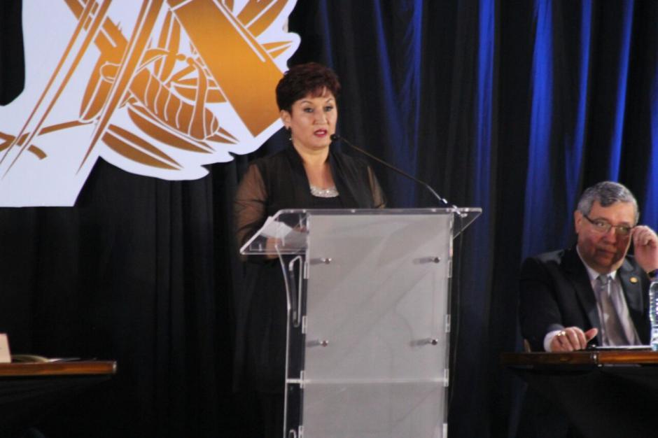 La Fiscal General Thelma Aldana también participó en la actividad. (Foto: Alejandro Balán/Soy502)