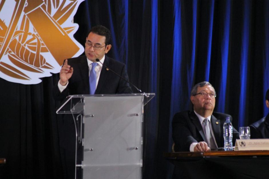 Morales afirmó que el país está dividido e hizo un llamado a la unidad. (Foto: Alejandro Balán/Soy502)