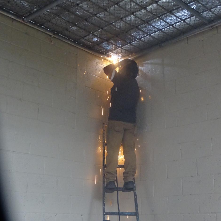 Presidios informó que se reforzaron los techos de la prisión. (Foto: Sistema Penitenciario)