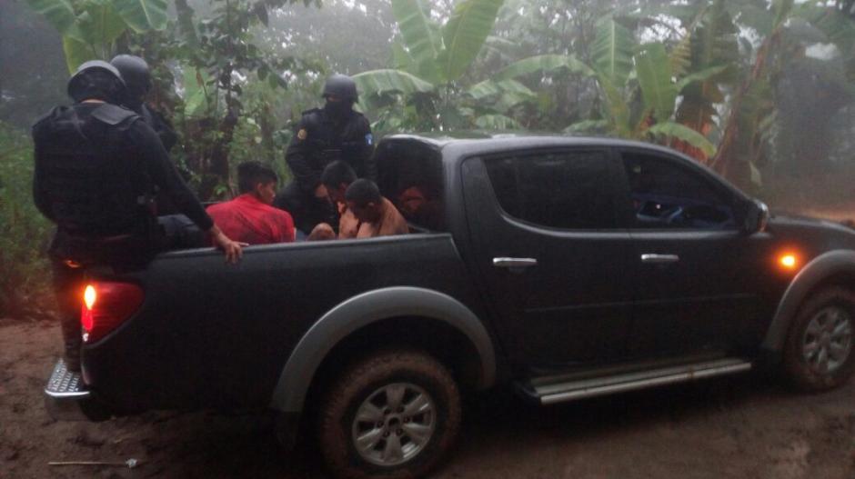 Los detenidos habrían participado en el secuestro de un niño de seis años. (Foto: @PNCdeGuatemala)