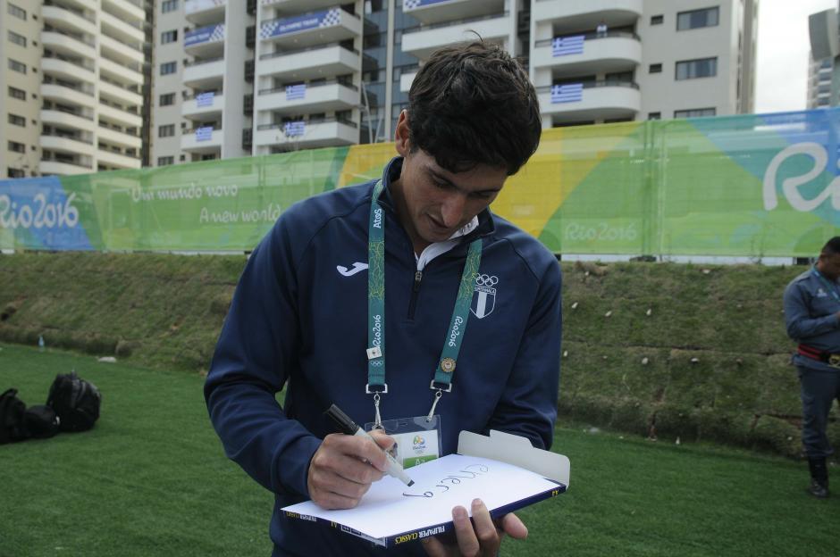 """Maegli describió con la palabra """"energía"""" lo que para él significan los Juegos Olímpicos.  (Foto: Aldo Martínez/Enviado de Nuestro Diario)"""