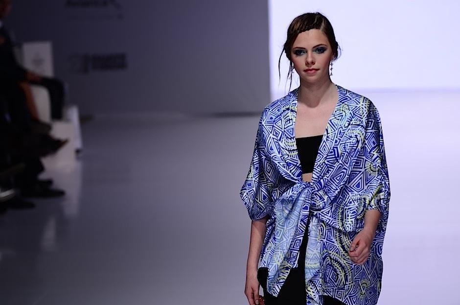 Eduardo Figueroa fue el diseñador encargado de abrir el show. (Foto: Selene Mejía/Soy502)