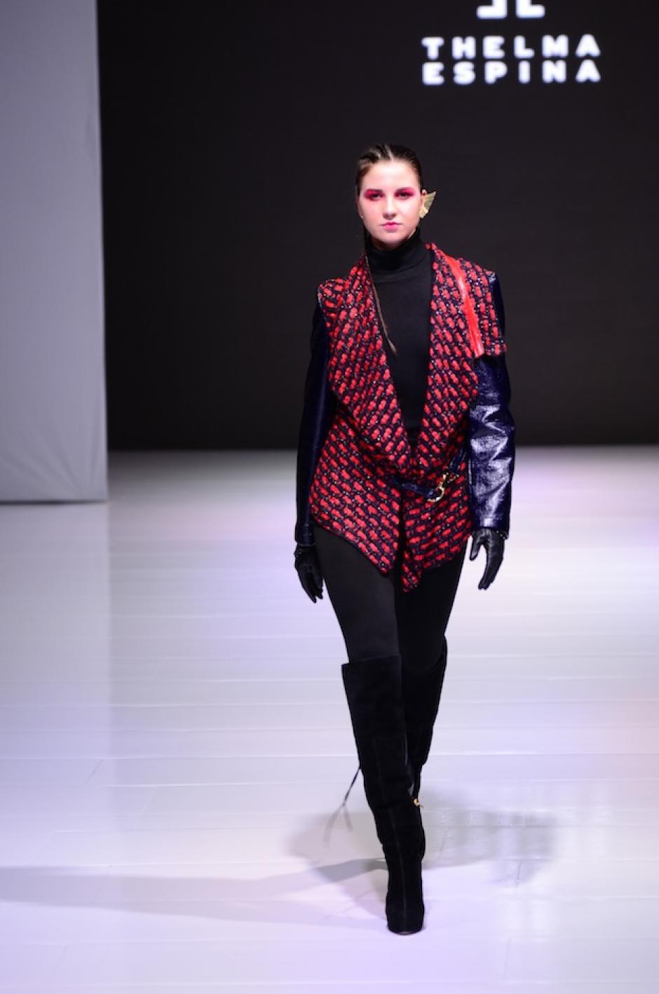 Las chaquetas de Thelma Espina son versátiles. (Foto: Selene Mejía/Soy502)