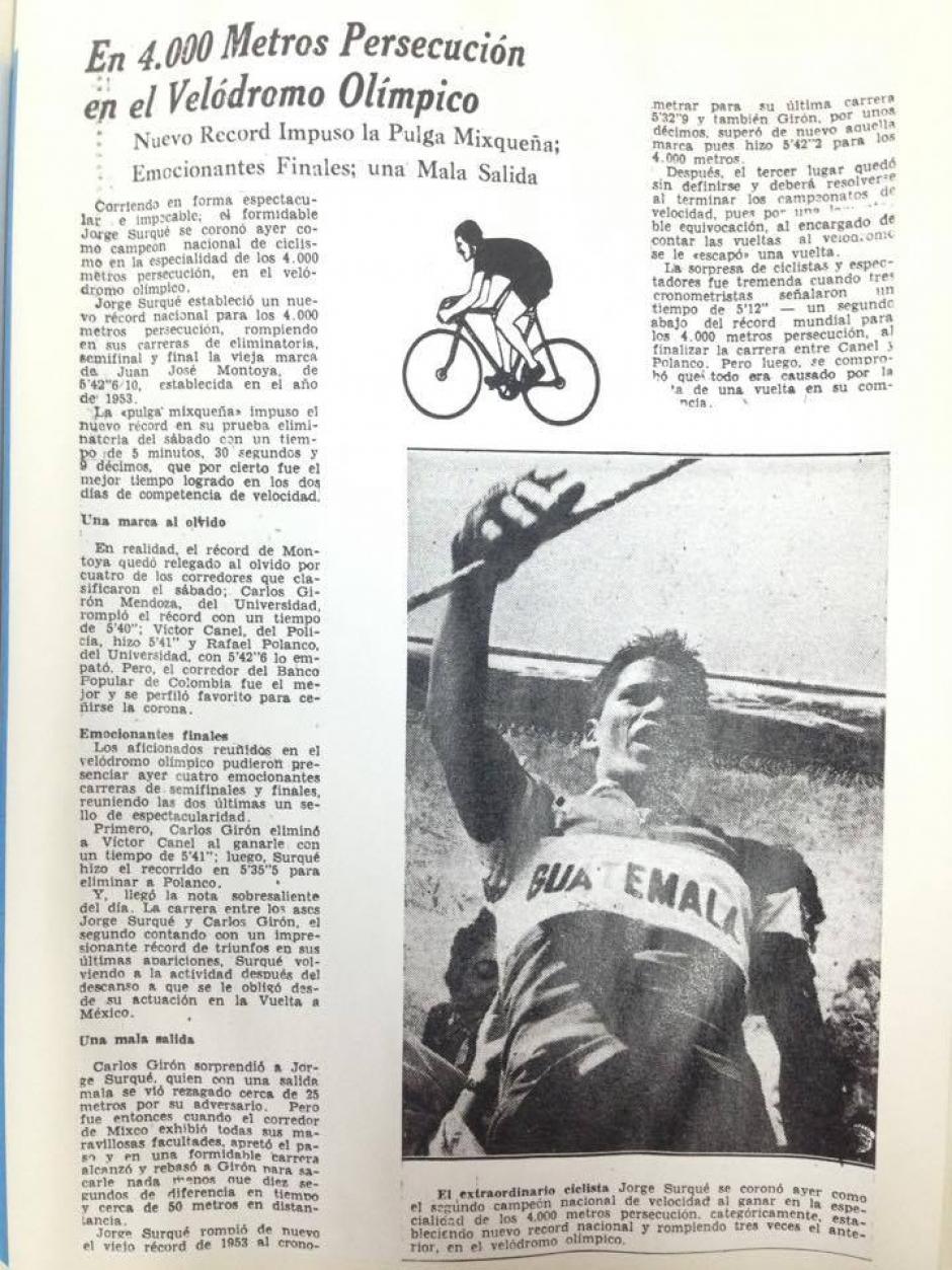 La historia de la primera Vuelta a Guatemala. (Foto: Hemeroteca Nacional)