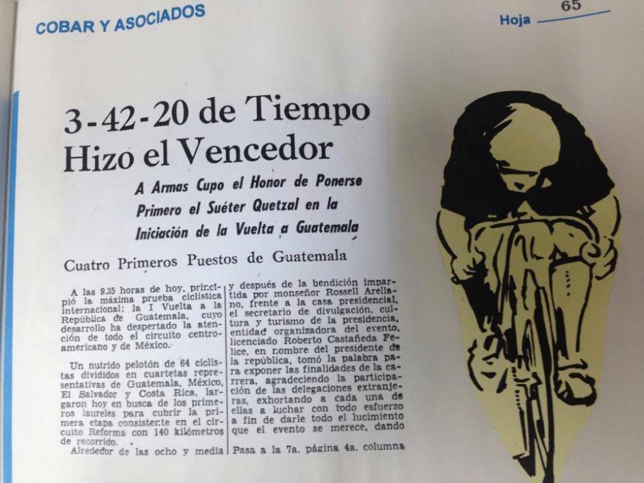 Este lunes iniciará la edición 56 de la Vuelta a Guatemala. (Foto: Hemeroteca Nacional)