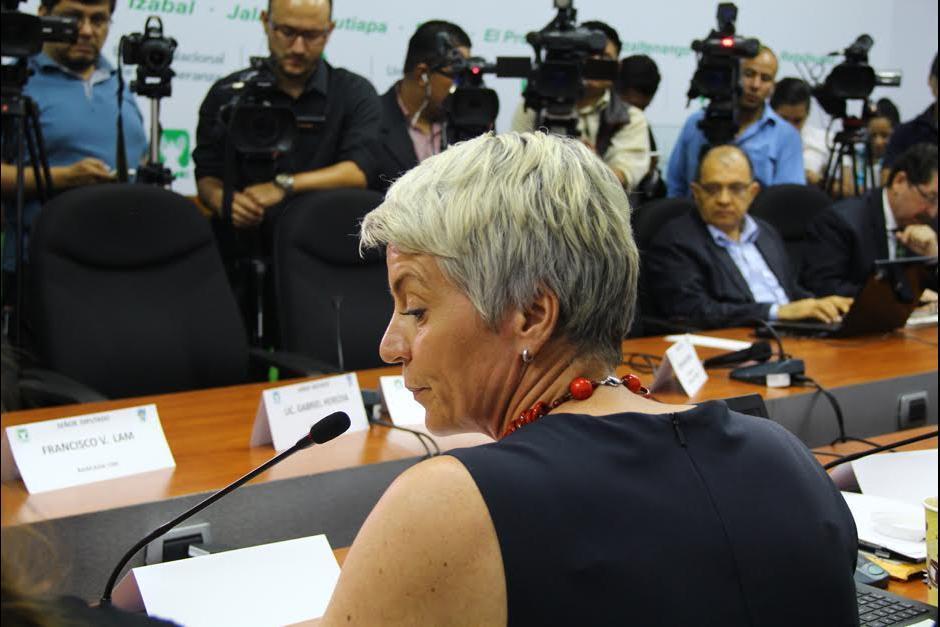 Susanne Martson representante de TCQ durante una citación. (Foto: Archivo/Soy502)